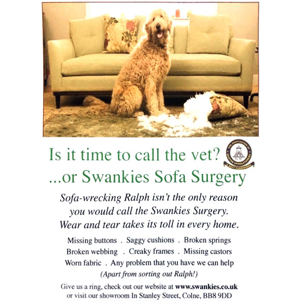 Swankies Sofa Refurbishment Poster